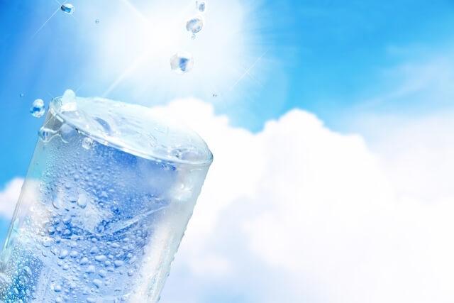 夏の終わり、こまめな水分摂取を心掛けてください